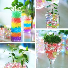Magic Moisturizing Crystal Mud Soil Water Beads for Flower Planting (About 400pcs/Bag) Mixed Color