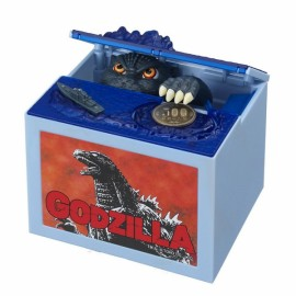 Electric Voice Coin Piggy Bank Saving Money Box Novelty Toy Godzilla Pattern