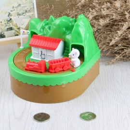 Cute Kitty Cat Mouse Itazura Coin Money Box Mountain Rat Multicolor