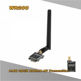 WR200 5.8G 32CH 200mW AV Transmitter for XK X350 RC Quadcopter Aerial Photography Black