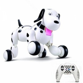 JG 2.4G Programmable RC Robot Remote Control Smart Dog Black