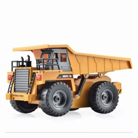 HuiNa Toys 1540 6-Channel 1/12 RC Metal Dump Truck Toy Brown