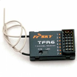 FrSky TFR6 7 Channels Receiver with 1.5km Receiving Distance for FUTABA FASST 1-2s