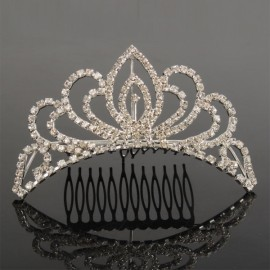 Wedding Bridal Crown Hair Comb Pin 04