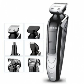 Kemei KM-1832 5-in-1 Waterproof Electric Hair Clipper Nose Hair Sideburns Trimmer Shaver Black