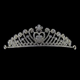Bride Rhinestone Crystal Crown Tiara Princess Queen Wedding Bridal Party Prom Headpiece Hair Jewelry #05