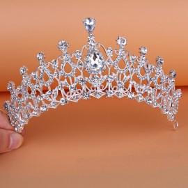 Bride Rhinestone Crystal Crown Tiara Princess Queen Wedding Bridal Party Prom Headpiece Hair Jewelry #02