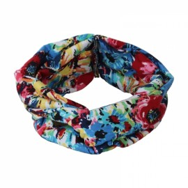 Elastic Headband Women Flower Hair Band Twisted Knotted Yoga Head Wrap #12