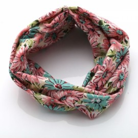Elastic Headband Women Flower Hair Band Twisted Knotted Yoga Head Wrap #07