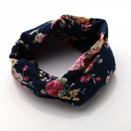 Elastic Headband Women Flower Hair Band Twisted Knotted Yoga Head Wrap #10