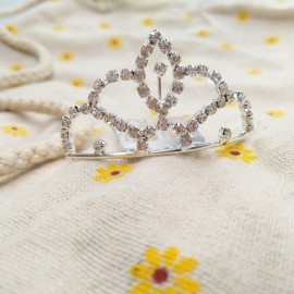 Wedding Bridal Rhinestone Crown Tiara Hair Comb Pin MS2 Silver