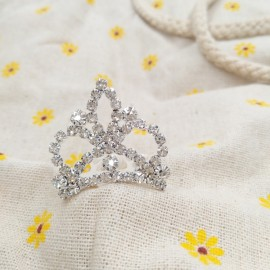 Small Wedding Bridal Rhinestone Crown Tiara Hair Comb Pin S16 Silver