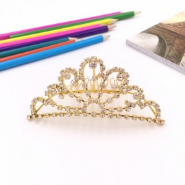 Large Wedding Bridal Rhinestone Crown Tiara Hair Comb L12 Silver