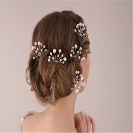 6pcs Bridal Prom Pearl Flower Hair Clip Pin Wedding Party Jewelry Beauty White