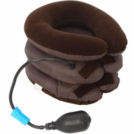Soft Cervical Vertebra Tractor Massager Three Layers Pain Headache Brown