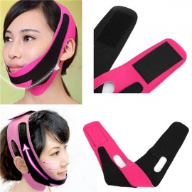 Anti Wrinkle Lift V Face Facial Cheek Slimming Ultra-thin Strap Belt Band Rose & Black