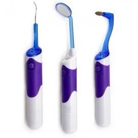 8000 MCD LED Light Mirror Dental Oral Care Teeth Whitening Clean Tools Set