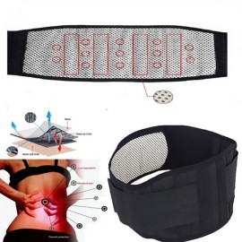 Tourmaline Self Heating Infrared Magnetic Therapy Back Waist Support Brace Lumbar Spine Correction Belt Black L