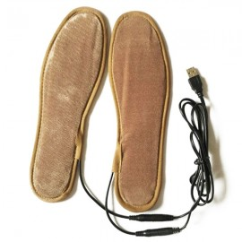 Unisex Feet Warmer USB Electric Powered Heated Insoles Pads Size 40-41 Brown