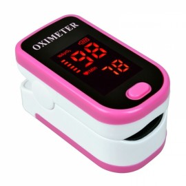 Color LED Display Oxymetre Pulsioxmetro Fingertip Pulse Monitor Red