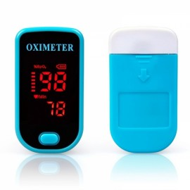 Color LED Display Oxymetre Pulsioxmetro Fingertip Pulse Monitor Blue