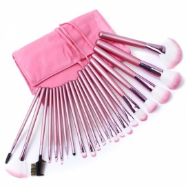 22pcs Superior Professional Soft Cosmetic Makeup Brush Set Pink + Pouch Bag Case