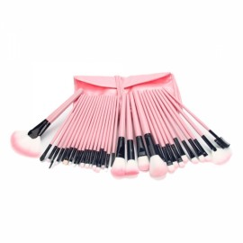 32pcs Cosmetic Makeup Brush Set with Cosmetic Bag Pink 2#