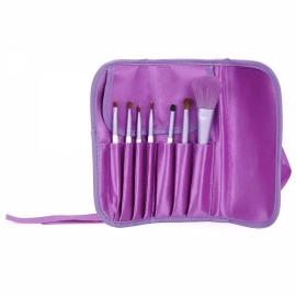 7pcs Professional Cosmetic Brush Set with Pouch Purple