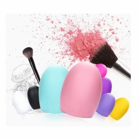 Professional Stylish Colored Silicone Egg-style Brush Cleaner Peach