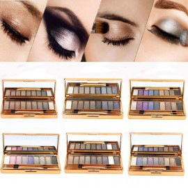 9 Colors Eye Makeup Dazzling Shimmer Eyeshadow Palette #5