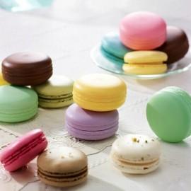 Round Sphere Candy Fruit Strawberry Taste Macaron Designed Moisturizing Nourishing Lip Balm Pink
