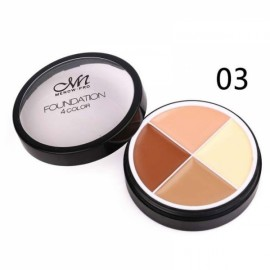 Menow 4-Color Long Lasting Waterproof Concealer Cream Face Makeup Cosmetics Palette #03