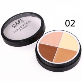 Menow 4-Color Long Lasting Waterproof Concealer Cream Face Makeup Cosmetics Palette #02