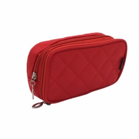 Portable 2 Layers Travel Storage Bag Colorful Cosmetic Makeup Organizer Toiletry Storage Bag Red