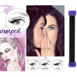 3Pcs/Set Cat Eye Wing Eyeliner Stamp Cream Brush Tool Easy to Makeup - Kitten Size
