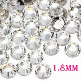 1440pcs 1.8mm Nail Art Glitter Tips Super Bright Rhinestones White 5#