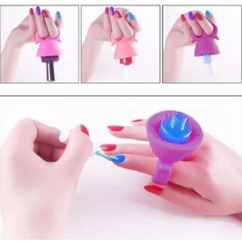 Wearable Finger Nail Polish Holder Varnish Glue Bottle Display Stand Nail Art Tool Random Color