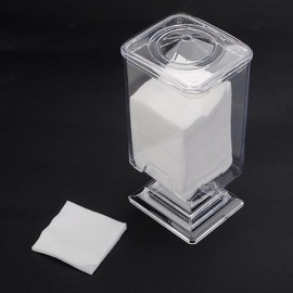 Nail Art Polish Remover Cotton Pad Holder Case Container Transparent