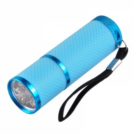 Portable Mini LED Nail Dryer Curing Lamp Flashlight Torch for UV Gel Nail Polish Blue