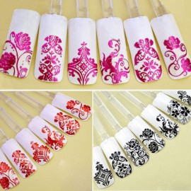 1 Sheet 108pcs 3D Flower Style Nail Art Stickers White