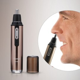 KM-6619 Electric Rechargeable Nose & Ear Hair Trimmer Remover (110-220V)