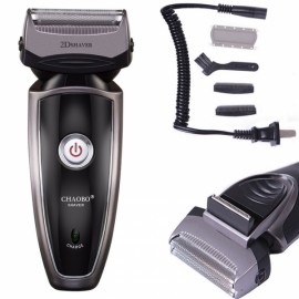 Men's Rechargeable Cordless Electric Razor Shaver with Pop-up Trimmer US Plug