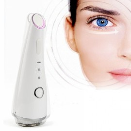 LED Light Skin Facial Care Anti-wrinkle Beauty Skin Rejuvenation Cool and Heat Photon Treatment Beauty Instrument Face Massager White