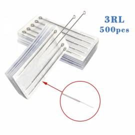 500pcs Professional Sterilized Round Liner Tattoo Needles 3RL