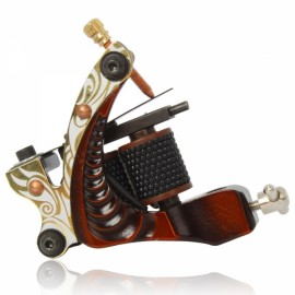10 Wrap Coils Low-carbon Steel Shader Tattoo Machine Red 002