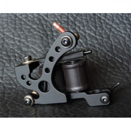 XHJ006A 10 Wrap Coil Liner Tattoo Machine Gun Black