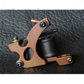 XHJ004C 10 Wrap Coil Shader Tattoo Machine Gun Reddish Brown