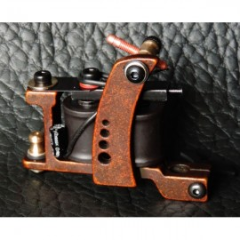 XHJ001C 10 Wrap Coil Shader Tattoo Machine Gun Reddish Brown