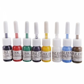 New 8 Color Tattoo Inks Set 1oz 5ML Pigment Kit for Body Art