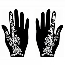 1 Pair India Henna Temporary Tattoo Stencil for Hand Leg Arm Feet Body Art Decal #26